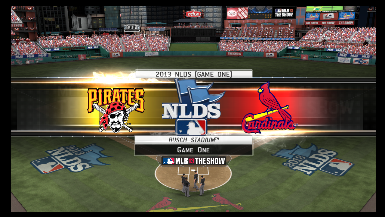 mlb 13 the show pirates cardinals alds series simulation