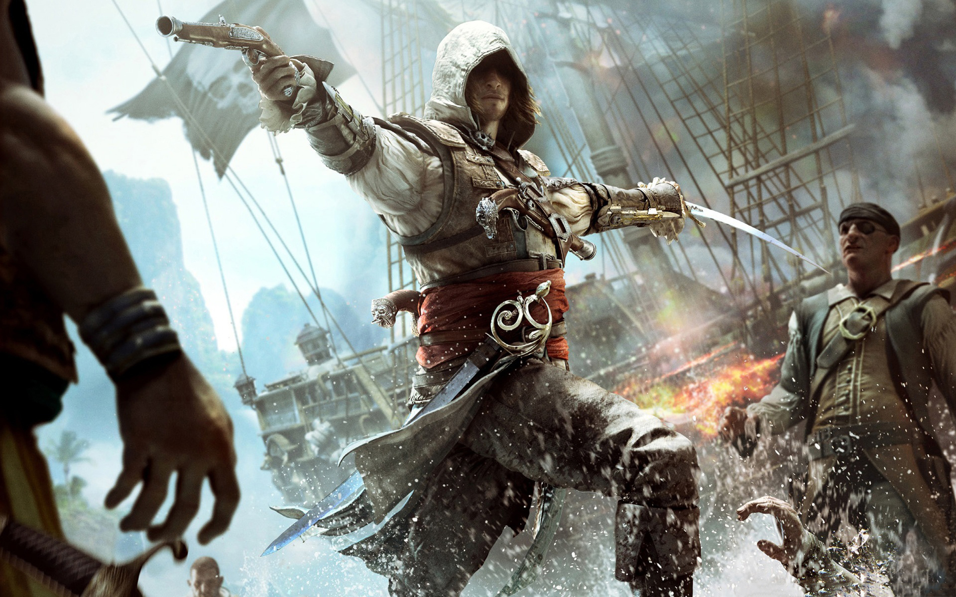 s flag Assassin creed black