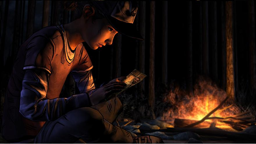 the walking dead season 2 clementine fire
