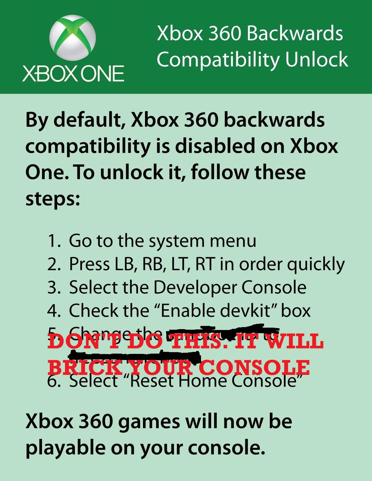 xbox one bricked console