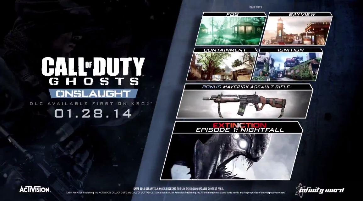 call of duty ghosts onlsaught dlc