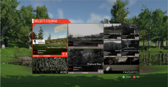 Courses can be rated by anyone who plays them. You can also view each course's best score.