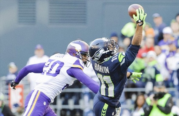 Percy Harvin of the Seattle Seahawks