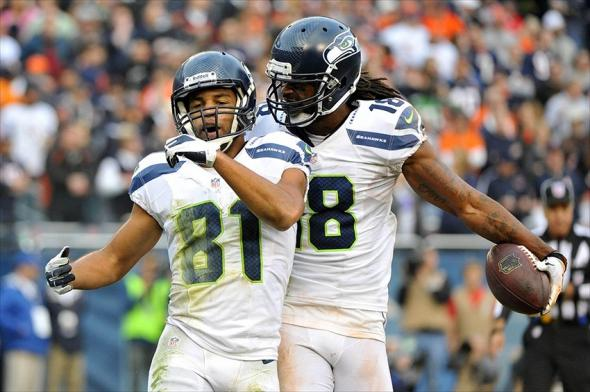 Golden Tate and Sidney Rice