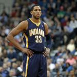 Feb 19, 2014; Minneapolis, MN, USA; Indiana Pacers forward Danny Granger (33) against the Minnesota Timberwolves at Target Center. Mandatory Credit: Brace Hemmelgarn-USA TODAY Sports