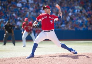 Toronto Blue Jays reliever Brett Cecil has impressed in high-pressure situations. Mandatory Credit: Nick Turchiaro-USA TODAY Sports