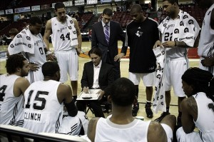 Jan 6 2010; Boise, ID, USA;Austin Toros  huddle during a time out in the first half of against the Sioux Falls Skyforce in the NBA D league show case at Qwest Arena.  Mandatory Credit: Brian Losness-US PRESSWIRE