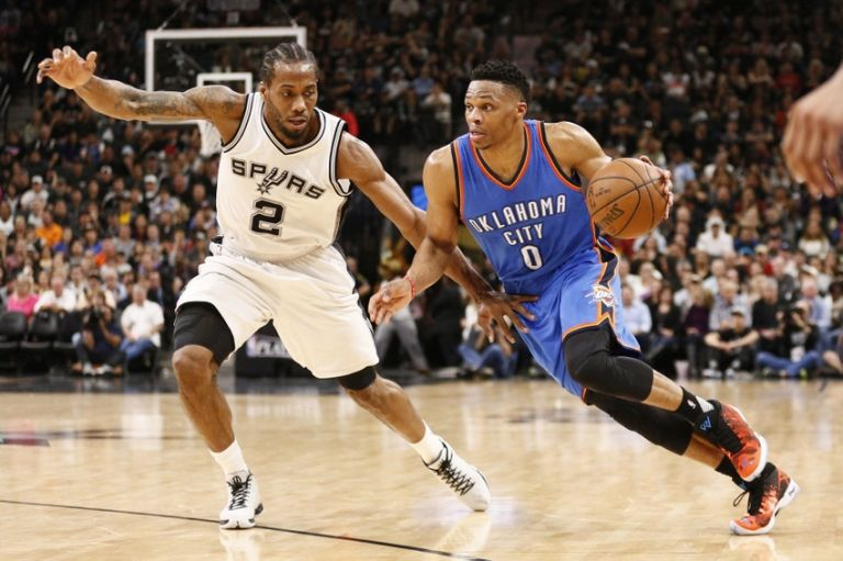 Russell-westbrook-kawhi-leonard-nba-playoffs-oklahoma-city-thunder-san-antonio-spurs-768x511