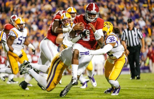 lsu vs alabama spread friday football games
