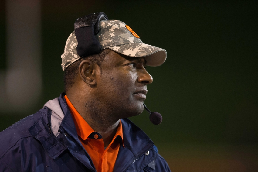 Oct 8, 2016; Winston-Salem, NC, USA; Syracuse Orange head coach Dino Babers looks on during the third quarter against the Wake Forest Demon Deacons at BB&T Field. Wake defeated Syracuse 28-9. Mandatory Credit: Jeremy Brevard-USA TODAY Sports