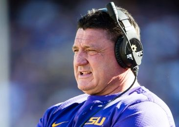 Nov 19, 2016; Baton Rouge, LA, USA; LSU Tigers interim head coach Ed Orgeron watches his team take on the Florida Gators during the game at Tiger Stadium. The Gators defeat the Tigers 16-10. Mandatory Credit: Jerome Miron-USA TODAY Sports
