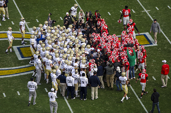 Georgia Football Versus Georgia Tech
