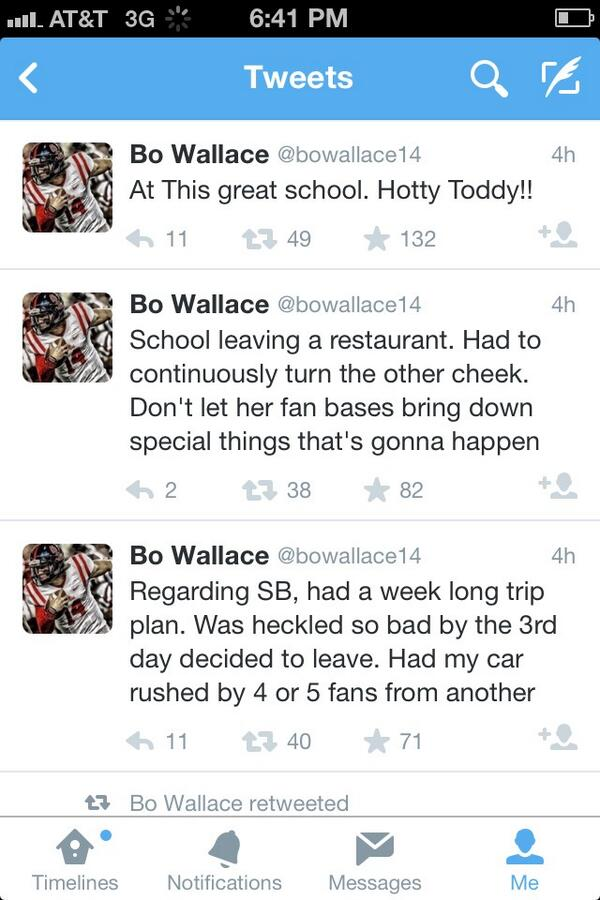 Bo wallace tweets