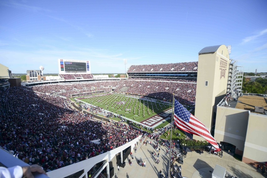 Nov 14, 2015; Starkville, MS, USA; Fans fill Davis Wade Stadium before the game against the Mississippi State Bulldogs and the Alabama Crimson Tide. Mandatory Credit: Matt Bush-USA TODAY Sports