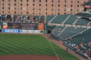Author's photo of the warehouse at Oriole Park at Camden Yards