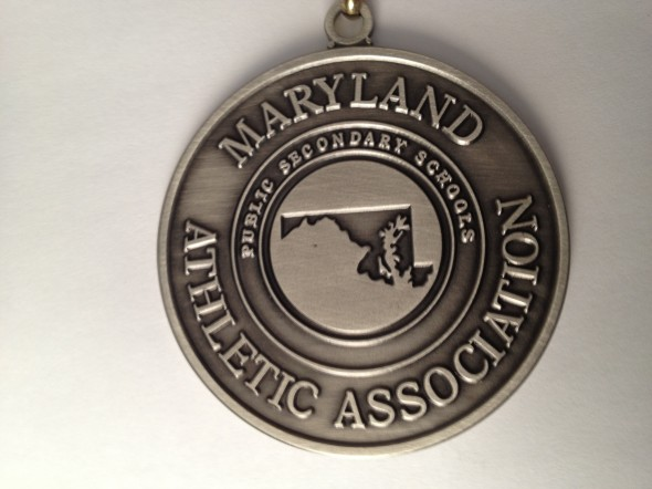 state medal in paint