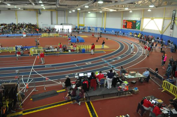Maryland High School Indoor Track State Championships 2014. Photo by author