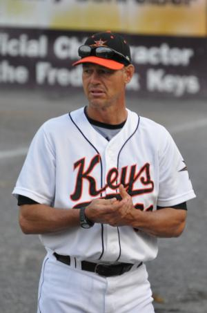 Blaine Beatty when coaching in Frederick in 2011. (Author's photo)