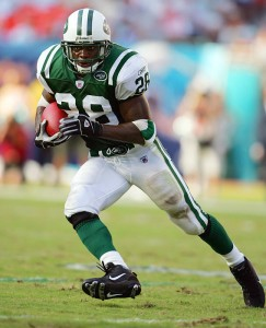 Curtis Martin ran for 110 yards in the Jets' blowout win over the Panthers in 1998.