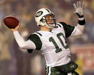 Chad Pennington played a terrific game against the Dolphins on this night in 2004.