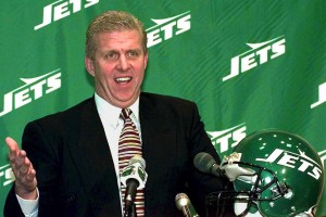 Parcells was at the helm the last time the Jets were victorious over the Baltimore Ravens.