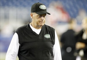 Sep 12, 2013; Foxboro, MA, USA; New York Jets head coach Rex Ryan prior to the game against the New England Patriots at Gillette Stadium. Mandatory Credit: William Perlman/THE STAR-LEDGER via USA TODAY Sports