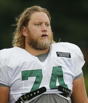 Aug 1, 2013; Cortland, NY, USA; New York Jets center Nick Mangold (74) during training camp at SUNY Cortland. Mandatory Credit: William Perlman/THE STAR-LEDGER via USA TODAY Sports