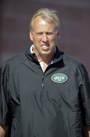 Aug 3, 2013; Cortland, NY, USA; New York Jets general manager John Idzik looks on during training camp at SUNY Cortland. Mandatory Credit: Rich Barnes-USA TODAY Sports