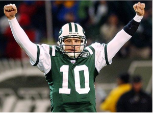 Chad Pennington was huge in leading the Jets to victory in the 2002 Wild Card game against the Colts.