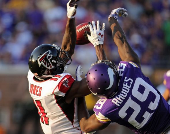 Sep 28, 2014; Minneapolis, MN, USA; Minnesota Vikings cornerback <a rel=