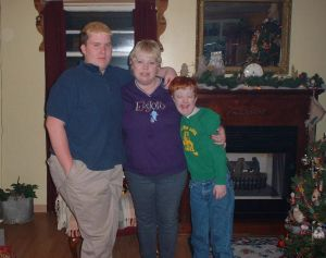 My mom, my brother, and me.