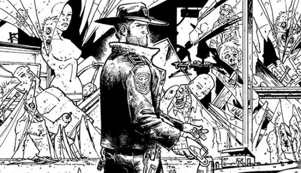 39 the walking dead 39 mural under way in kentucky for Mural walking dead