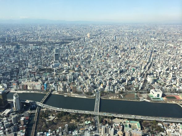 Tokyo as seen from the Skytree