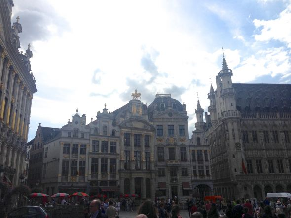 Brussels, Belgium. A typical plaza.