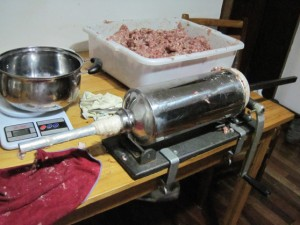 A good but inexpensive sausage stuffer is easy to find.