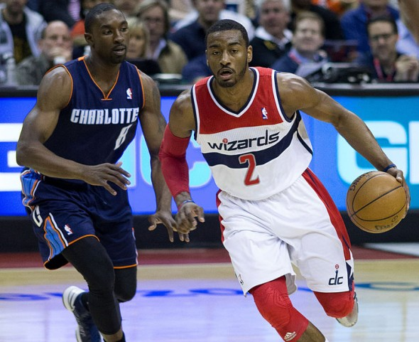 John Wall averaged almost 30 points a game this week for the Washington Wizards. (Flickr.com photo/Keith Allison) Used under the Creative Commons Attribution-Share Alike 2.0 Generic license.