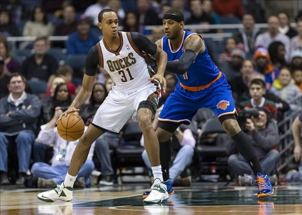 Milwaukee Bucks forward John Henson is posting impressive numbers in his second season. Mandatory Credit: Jeff Hanisch-USA TODAY Sports