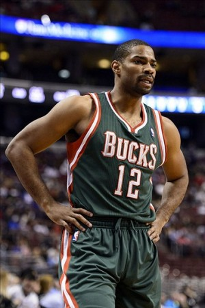 Nov 22, 2013; Philadelphia, PA, USA; Milwaukee Bucks guard Gary Neal (12) during the first quarter against the Philadelphia 76ers at Wells Fargo Center. The Sixers defeated the Bucks 115-107 in overtime. Mandatory Credit: Howard Smith-USA TODAY Sports