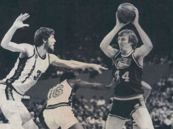 Dan Issel spent 10 of his 15 pro seasons with the Denver Nuggets in both the ABA and NBA.