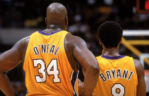 Shaquille O'Neal and Kobe Bryant teamed up for three NBA titles with the Los Angeles Lakers. Are they among the best at their positions for the Lakers in the modern era?
