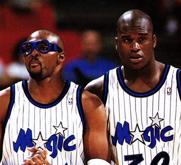Horace Grant, left, and Shaquille O'Neal both played big roles in the history of the Orlando Magic.