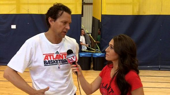 Atlanta Hawks assistant coach Quin Snyder is reportedly going to be introduced today as the new head coach of the Utah Jazz. (Screen capture via youtube.com)