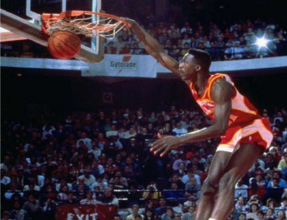 """Dominique Wilkins was nicknamed """"The Human Highlight Film"""" for his high-flying exploits for the Atlanta Hawks in the 1980s."""