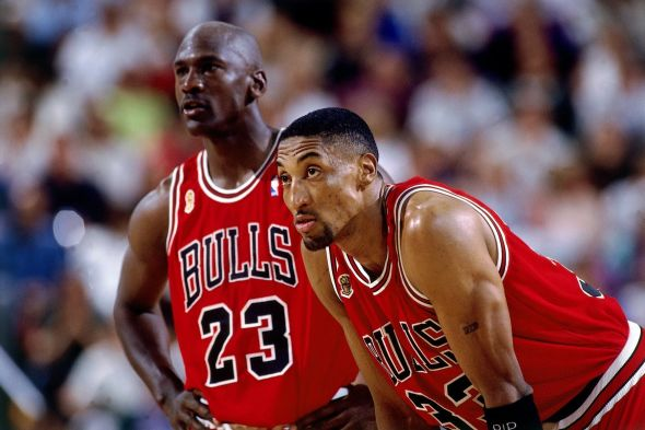 Michael Jordan and Scottie Pippen were the centerpieces for six NBA championships in Chicago. (Image captured from youtube.com)