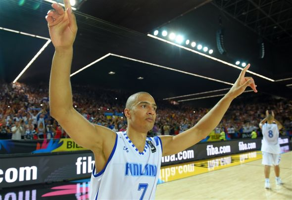 Shawn Huff led Finland to a stunning upset of Ukraine on the second day of the FIBA World Cup. (FIBA photo)