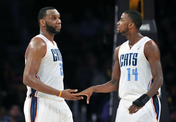 Charlotte Hornets' MKG and Al Jefferson