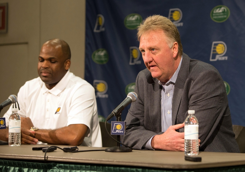 9297169-nate-mcmillan-larry-bird-nba-indiana-pacers-press-conference