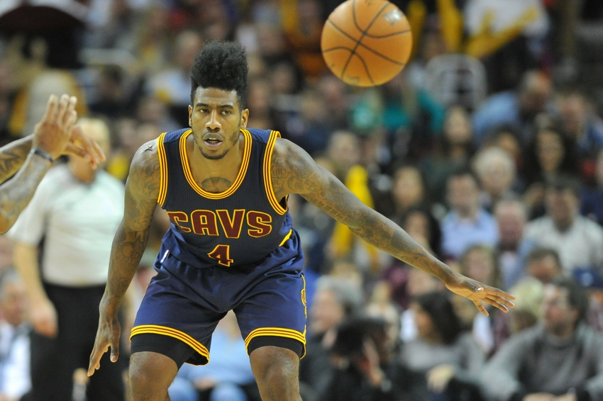 Feb 5, 2016; Cleveland, OH, USA; Cleveland Cavaliers guard Iman Shumpert (4) during the second half at Quicken Loans Arena. The Celtics won 104-103. Mandatory Credit: Ken Blaze-USA TODAY Sports