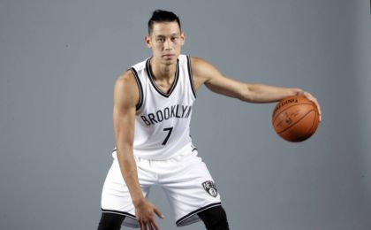 Sep 26, 2016; Brooklyn, NY, USA; Brooklyn Nets guard Jeremy Lin (7) poses for a portrait during media day at HSS Training Center. Mandatory Credit: Nicole Sweet-USA TODAY Sports