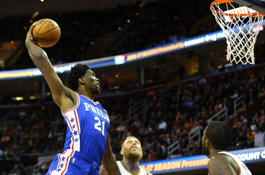 76ers joel embiid displaying flashes of all star potential